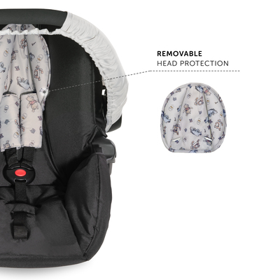 With infant car seat